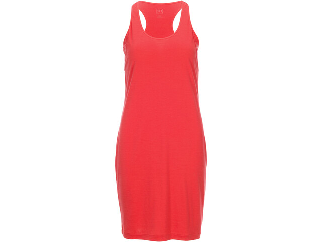 super.natural Essential Racer Dress Damen clove red